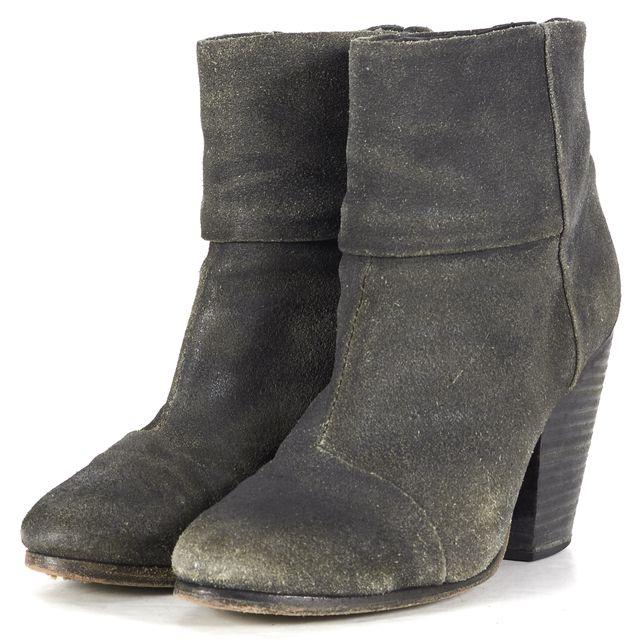 RAG & BONE Gray Leather bury Ankle Boots