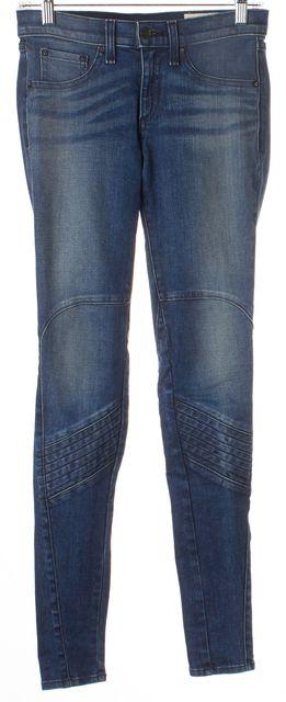 RAG & BONE Blue Cardiff Stitch Detail Mid-Rise Skinny Jeans