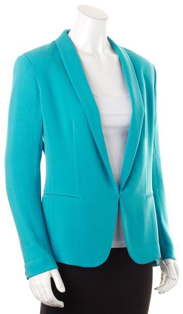 RAG & BONE Teal Blue Hook & Eye Front Button Career Blazer