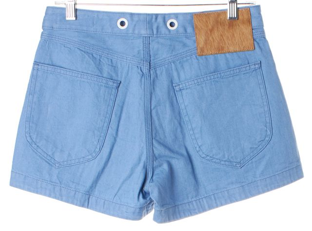 RAG & BONE Powder Blue Grommet Trim High Rise RBW 18 Denim Shorts