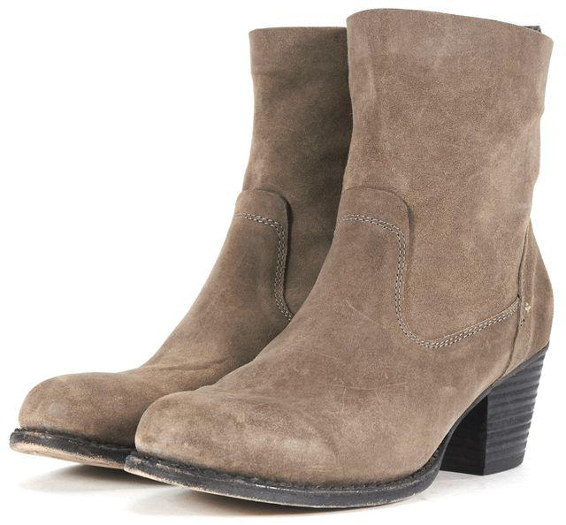 RAG & BONE Brown Leather Mercer Block Heeled Ankle Boots