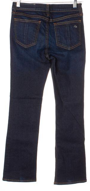 RAG & BONE Kensington Blue Dark Wash Denim 10 Inch Crop Cropped Jeans