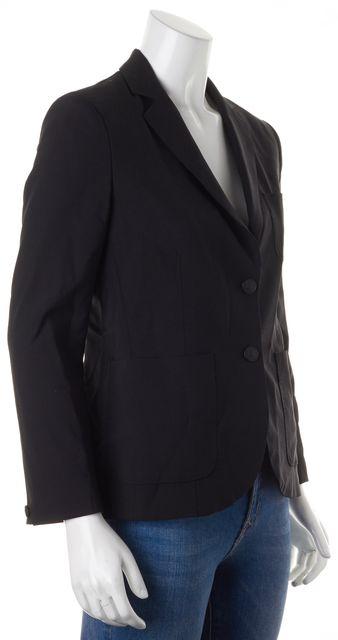 RAG & BONE Black Solid Wool Two Button Classic Blazer Jacket