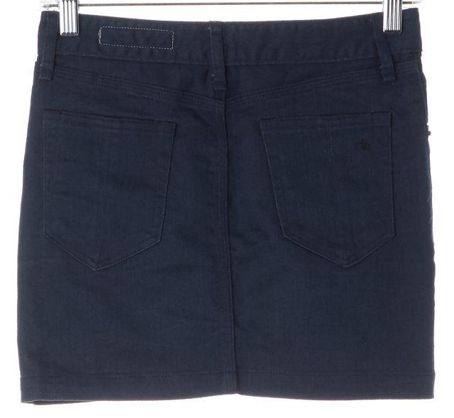 RAG & BONE Blue Stretch Cotton Denim Mini Skirt