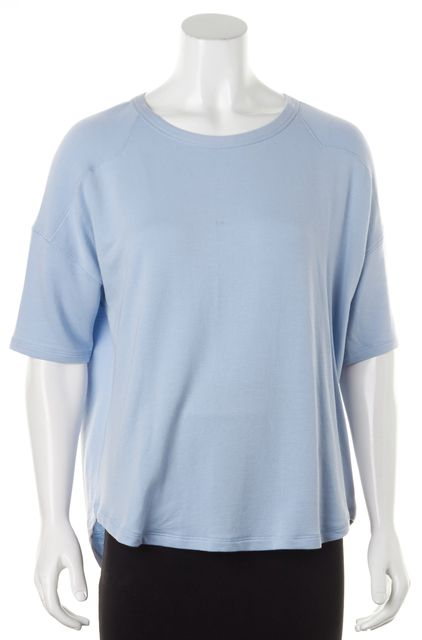 RAG & BONE Blue Modal Terry Cloth Lined Relaxed Fit Knit T-Shirt Top