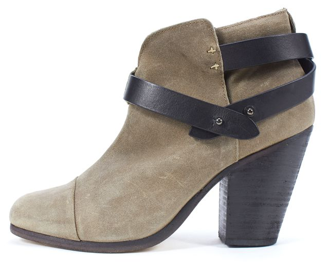RAG & BONE Brown Nubuck Leather Harrow Ankle Boots