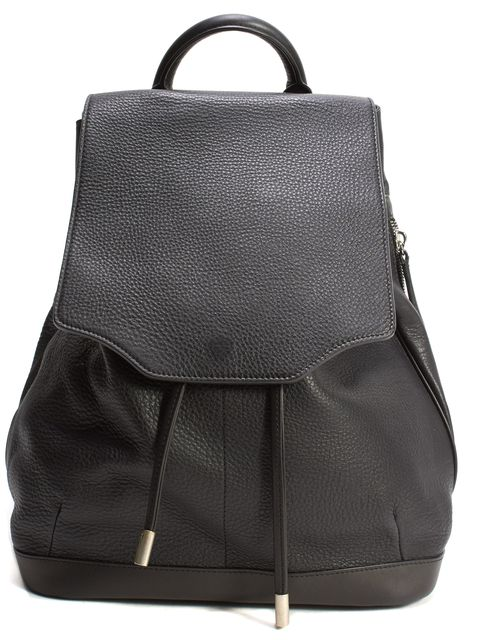 RAG & BONE Black Pebbled Leather Drawstring Mini Pilot Backpack