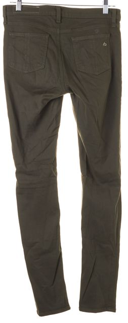 RAG & BONE Fatigue Green Stretch Cotton Distressed Skinny Jeans