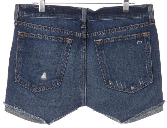 RAG & BONE Woodstock Blue Distressed Cut Off Denim Shorts