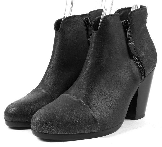 RAG & BONE /NWB Granite Black Leather Margot Ankle Boots