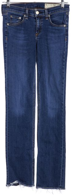 RAG & BONE Blue Mid-Rise Straight Leg Jeans