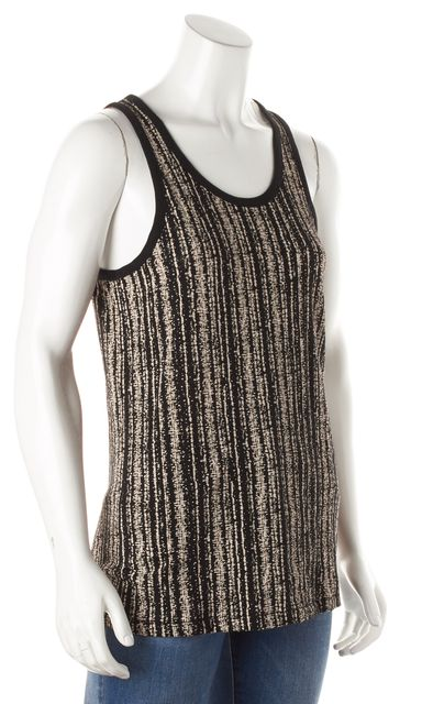 RAG & BONE Black Ivory Abstract Printed Cotton Tank Top
