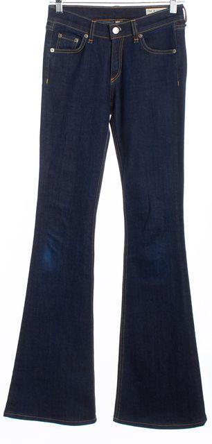 RAG & BONE Blue Elephant Bell Flare Wide Leg Jeans