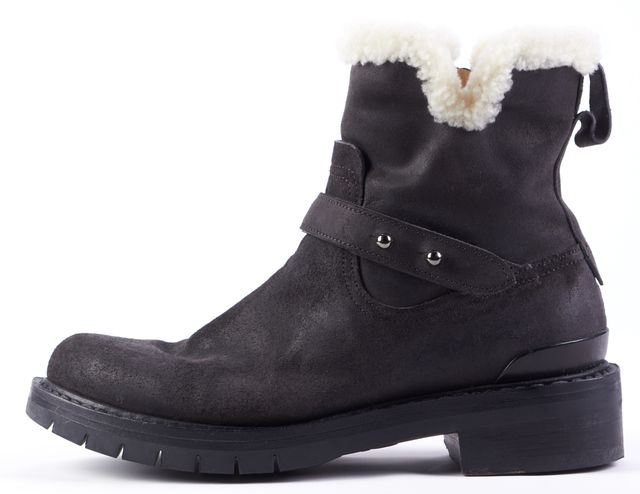 RAG & BONE Black Fur Lined Ankle Boot Boots
