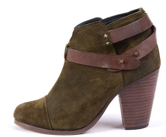 RAG & BONE Green Suede Ankle Boot Boots