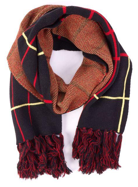 RAG & BONE Black Multi-color Plaids & Checks Wool Scarf