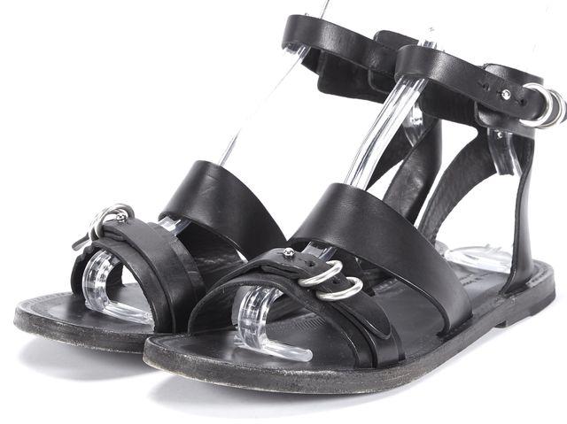 RAG & BONE Black Leather Flat Sandals