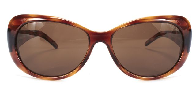 RALPH LAUREN Brown Oval Polarized Sunglasses