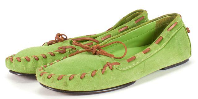 RALPH LAUREN Green Suede Moccasin