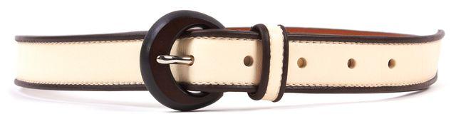 RALPH LAUREN Ivory Leather Belt