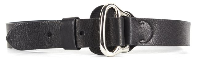 RALPH LAUREN Black Pebbled Grain Leather Belt
