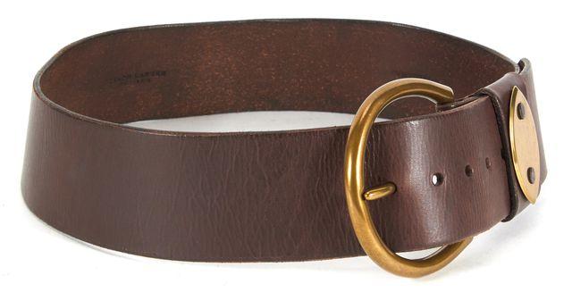 RALPH LAUREN Brown Wide Leather Belt