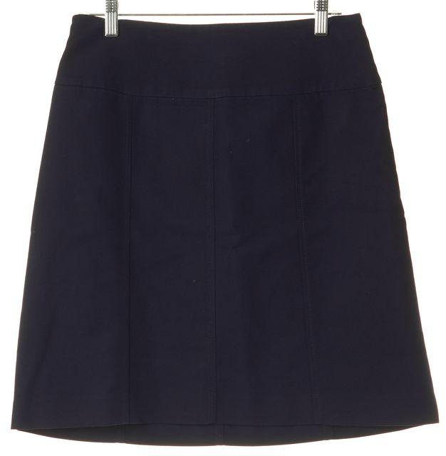 RALPH LAUREN Navy Blue A-Line Skirt