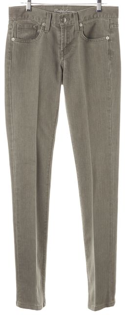 RALPH LAUREN Light Gray Stretch Cotton Slim Fit Jeans