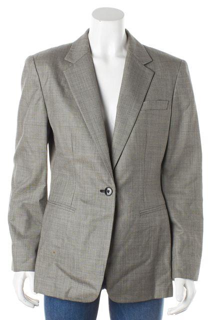 RALPH LAUREN Gray Worsted Wool Blazer