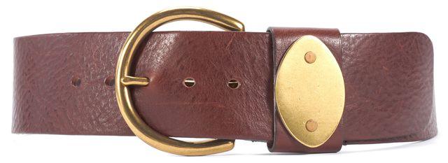 RALPH LAUREN Dark Brown Leather Belt