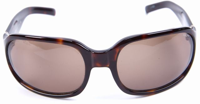 RALPH LAUREN Brown Tortoise Rectangular Sunglasses