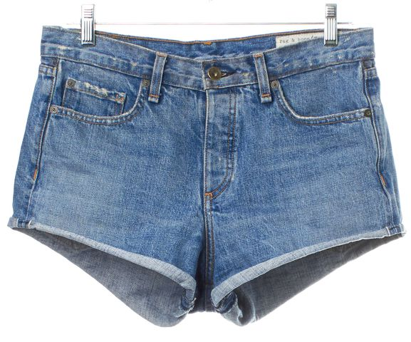 RAG & BONE/JEAN Blue Distressed Denim Shorts