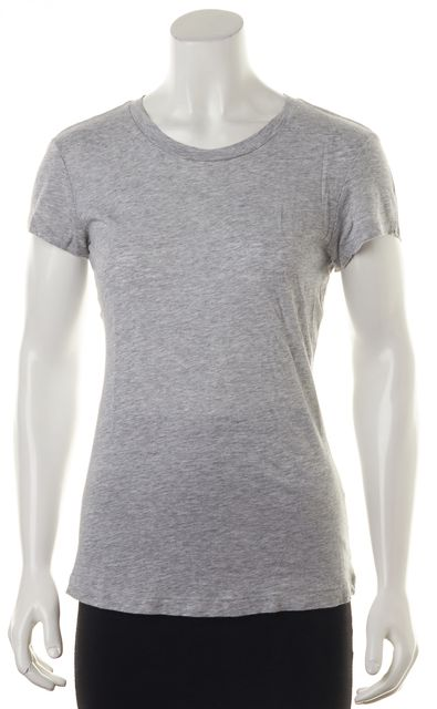 RAG & BONE/JEAN Gray Basic Jersey Knit Cap-Sleeve Tee T-Shirt