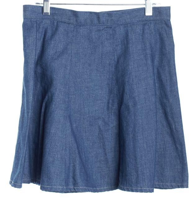 RAG & BONE/JEAN Medium Wash Blue Mini Skater Skirt