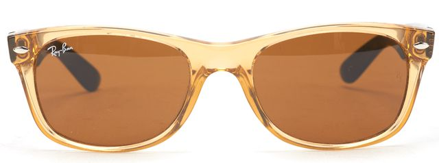 RAY-BAN RAY BAN Orange Acetate Frame Wayfarer Sunglasses w/ Case