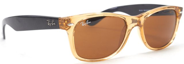 RAY-BAN RAY BAN Orange Acetate Frame Wayfarer Sunglasses w/ Case