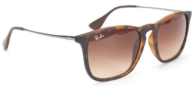 RAY BAN Mens Brown Chris Wire Frame Sunglasses