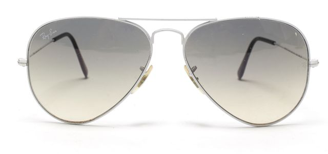 RAY BAN White Wire Frame Aviator Sunglasses