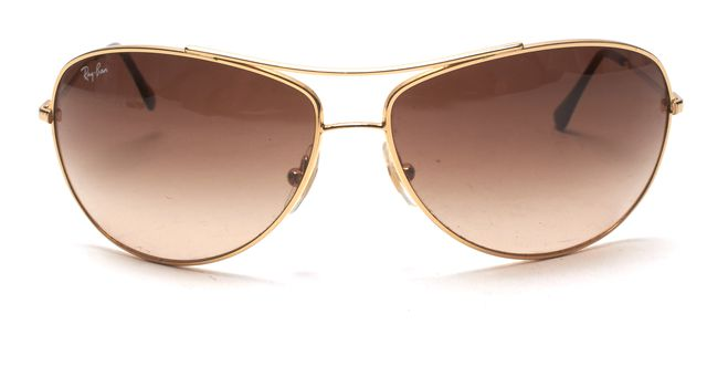 RAY BAN Gold Gradient Aviator Sunglasses