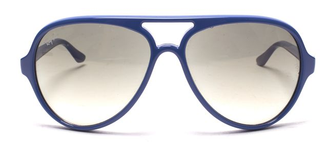 RAY BAN Blue Gray Gradient Lens Acetate Aviator Sunglasses