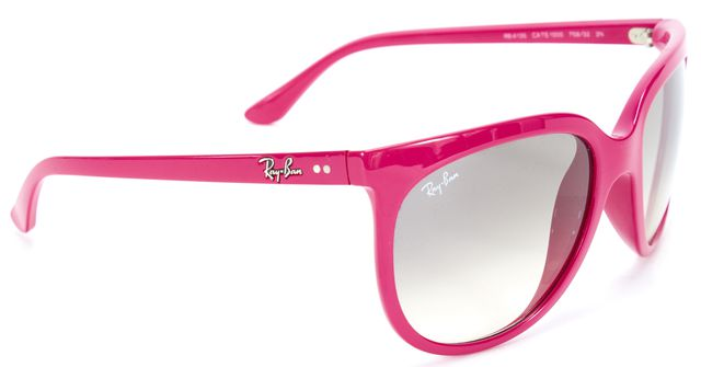 RAY-BAN Pink Gray Acetate Frame Gradient Lens Square Sunglasses