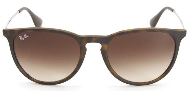 RAY-BAN Brown Tortoise Shell Acetate Metal Gradient Erika Sunglasses