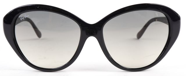 RAY-BAN Black Gray Acetate Frame Gradient Lens Cateye Sunglasses