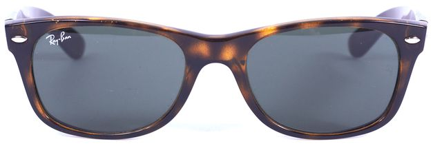 RAY-BAN Brown Tortoise Acetate Wayfarer Square Sunglasses