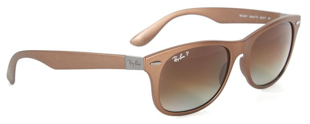 RAY-BAN Brown Acetate Polarized Liteforce Rectangle Sunglasses