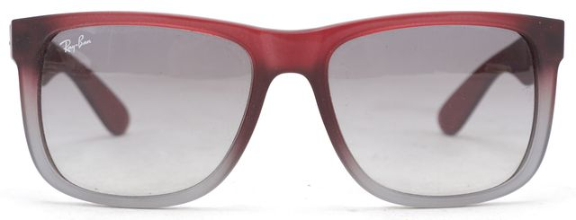 RAY-BAN Red Ombre Justin Rectangular Rubber Sunglasses