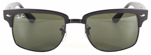 RAY-BAN Black Acetate Rimless Square Sunglasses
