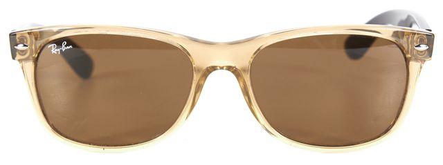 RAY-BAN Yellow Translucent Acetate Wayfarer Sunglasses w/ Case
