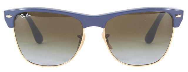 RAY-BAN Blue Matte Gold Metal Clubmaster Arista Sunglasses