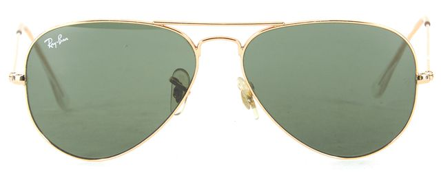 RAY-BAN Gold Wire Frame Large Aviator Sunglasses